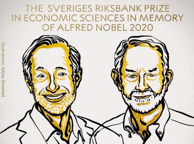 Dos expertos en subastas ganan Premio Nobel de Economía 2020