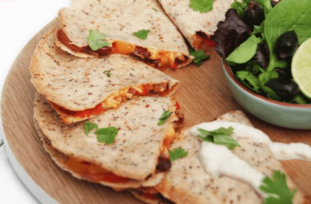Receta de quesadillas vegetarianas de camote