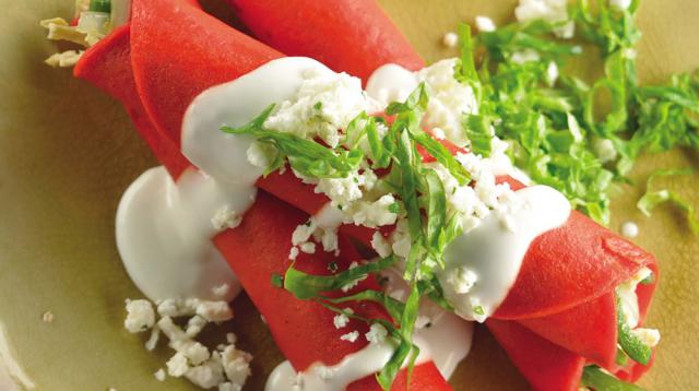 Receta de tacos de pollo tricolor para una noche 100 % mexicana